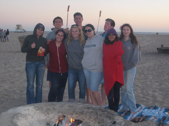 youth BTZY Beach Bonfire
